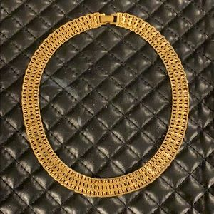 Vintage Monet Gold Omega Chain Necklace